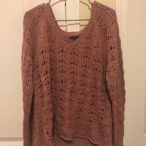 Blush American Eagle V-Neck Sweater Size XL